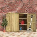 vidaXL Garten-Geräteschuppen 135x60x123 cm Kiefernholz Imprägniert