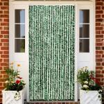 vidaXL Insektenschutz-Vorhang Grün und Weiß 90x220 cm Chenille