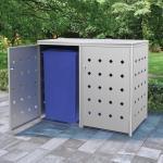 vidaXL Mülltonnenbox für 2 Tonnen 240 L Edelstahl 8719883706016 (145380)