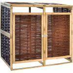 vidaXL Mülltonnenbox für 2 Tonnen Kiefernholz und Weide