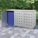 vidaXL Mülltonnenbox für 3 Tonnen 240 L Edelstahl 8719883706023 (145381)