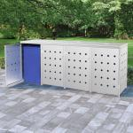 vidaXL Mülltonnenbox für 4 Tonnen 240 L Edelstahl 8719883706030 (145382)