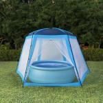 vidaXL Poolzelt Stoff 500 x 433 x 250 cm Blau