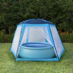 vidaXL Poolzelt Stoff 590 x 520 x 250 cm Blau 8718475700173 (91575)