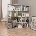 vidaXL Raumteiler/Bücherregal Betongrau 110×24×110 cm Spanplatte