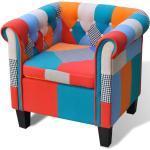 vidaXL Sessel mit Patchwork-Design Stoff