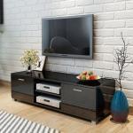 vidaXL TV Schrank Hochglanz Schwarz 140x40,3x34,7 cm