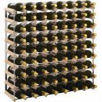 vidaXL Weinregal für 72 Flaschen Massivholz Kiefer
