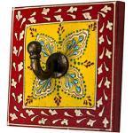 Vintage Garderobe Kleiderhaken Istari 4 Klein 10cm groß 1er Haken | Hakenleiste Wandhaken für die Wand oder Tür | Kleiderhakenleiste Garderobenhaken aus Holz | handtuchhaken im Bad oder Küche