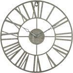 Vintage grau Metall Uhr D36,5
