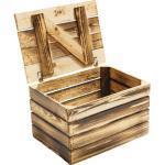 Vintage Holztruhe geflammt klein 50x40x30 cm 3er-Set
