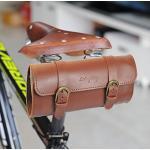 Vintage Road City Bike PU Big Bag Sattel hinten oder Lenker 22 10 6,5 cm, braun