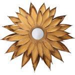 Vintage Spiegel in Blumenform Goldfarben