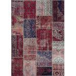 Rote Vintage Patchwork Teppiche