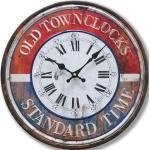 Vintage Wand Uhr Zeit Anzeige analog römische arabische Zahlen Durchmesser 40 cm BHP B991054