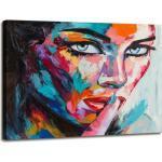 Visario Leinwandbild »1 teiliges Wandbild auf Leinwand 80 x 60 cm fertig auf Rahmen gespannt von «, Frau, 4006 - Frau
