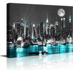Visario Leinwandbild »1 teiliges Wandbild auf Leinwand 80 x 60 cm fertig auf Rahmen gespannt von «, NYCatNight, 4024 - NYCatNight