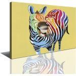 Visario Leinwandbild »1 teiliges Wandbild auf Leinwand 80 x 60 cm fertig auf Rahmen gespannt von «, Zebra, 4003 - Zebra