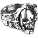 viva adorno Herren Ring Totenkopf Skull Vampir Daumenring 925 Sterlingsilber SR3, Gr. 63