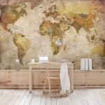 Vliestapete Weltkarte