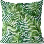 VOID Kissenbezug, (1 Stück), Tropische Palmenblätter Kissenbezug Blatt floral Wasserfarben pflanze deko, bunt