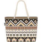 VOID Strandtasche (1-tlg), Azteken Ethno Muster Beach Bag Tribal Navajo amerikanisch traditionell Ornament, bunt
