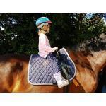 Voltigiergurt Gurt 104-128 cm voltigieren Reithilfe Reitgurt a.f. Holzpferd Mini Shetty Shetty Pony VB WB/KB HIER Minishetty 2 Fußschlaufen
