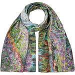 VON LILIENFELD Seidenschal Claude Monet: Der Garten Damen Satin lang Blumen Kunst Halstuch