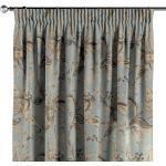 Vorhang mit Kräuselband, blau-grau