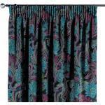 Vorhang mit Kräuselband, blau-rosa