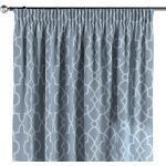 Vorhang mit Kräuselband, blau-weiß