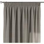 Vorhang mit Kräuselband, grau-ecru