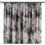 Vorhang mit Kräuselband, grau-rosa