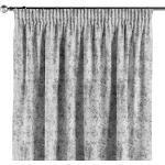 Vorhang mit Kräuselband, grau-weiß