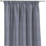 Vorhang mit Kräuselband, marinenblau-ecru