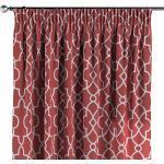 Vorhang mit Kräuselband, rot-weiß
