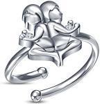 Vorra Fashion 925Sterling Silber Rund Weiß CZ Gemini Sternzeichen Ring, Sternzeichen Astrologie Zeichen Schmuck