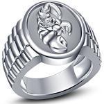 Vorra Fashion Astrologie Tierkreiszeichen Skorpion massiv 925Sterling Silber Rund Cut CZ Herren Band Ring