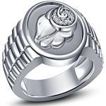 Vorra Fashion Herren - 925 Sterling-Silber Silber Oxyde de Zirconium