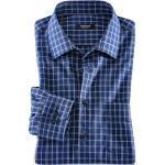 Marineblaue Walbusch Bügelfreie Hemden für Herren