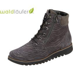 Waldläufer Habea 926802 200 971 carbon schiefer Okapi Velour