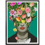 Wall-Art Poster Frida Kahlo Floral, Schriftzug, (1 St.) bunt Bilder Bilderrahmen Wohnaccessoires