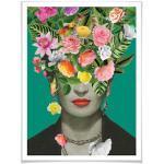 Bunte Nachhaltige Frida Kahlo Bilder & Wandbilder