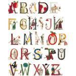Wall-Art Wandtattoo Kinderzimmer Blumen Alphabet bunt Kinder Wandtattoos und Wandsticker Wohnaccessoires