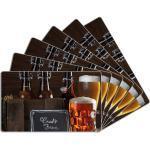 Wallario Frühstücksbrett »Biervarianten - Pils im Glas Flaschenbier Schild Craft Beer«, ESG-Glas, (6-St), 14x23cm, 6 St.