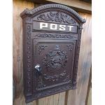 Wand Briefkasten Postkasten Post Antik Stil Aluguss Alu Wandbriefkasten Neu Wo-286