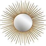 Wand Objekt Spiegel Schlaf Ess Zimmer Antik Sonnen Kunst Design Dekoration GOLD Boltze 8239200