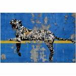 Blaue Nachhaltige Moderne Banksy Leinwanddrucke mit Köln-Motiv