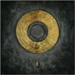 Wandbild Handgemalt (Gold & Black, 100 x 100 cm)