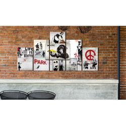 Wandbild Street Crimes: (Banksy) Art